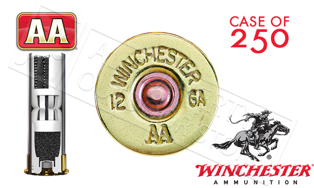 """(STORE PICKUP ONLY) 12 GAUGE - WINCHESTER AA SUPER SPORT SPORTING CLAYS SHOT SHELLS, 2-3/4"""" #9 SHOT CASE OF 250"""