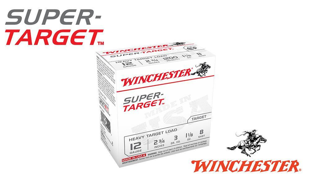 "(STORE PICKUP ONLY) 12 GAUGE - WINCHESTER SUPER-TARGET, #8, 2-3/4"", 1-1/8 OZ. 3 DRAM, CASE OF 250"