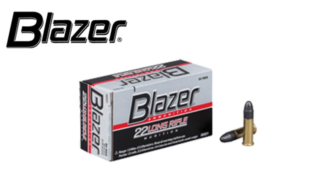 CCI Blazer 22LR Target Ammunition, 40 Grain, High Velocity, Pack of 50 #00021