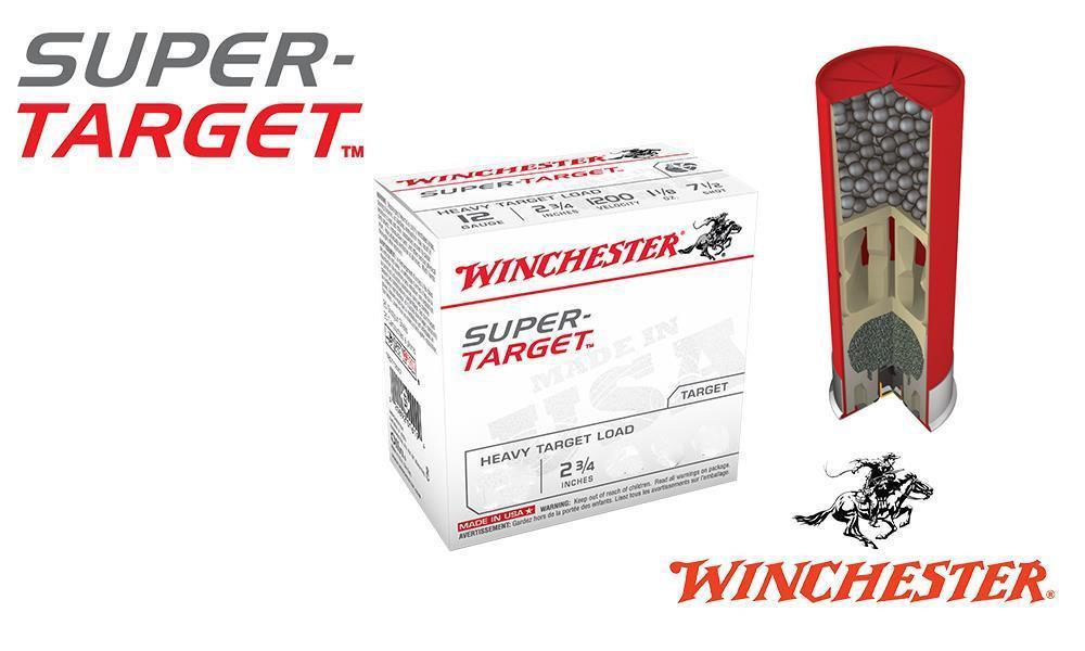 "(STORE PICKUP ONLY) 12 GAUGE - WINCHESTER SUPER-TARGET, #7.5, 2-3/4"", 1 OZ., CASE OF 250"