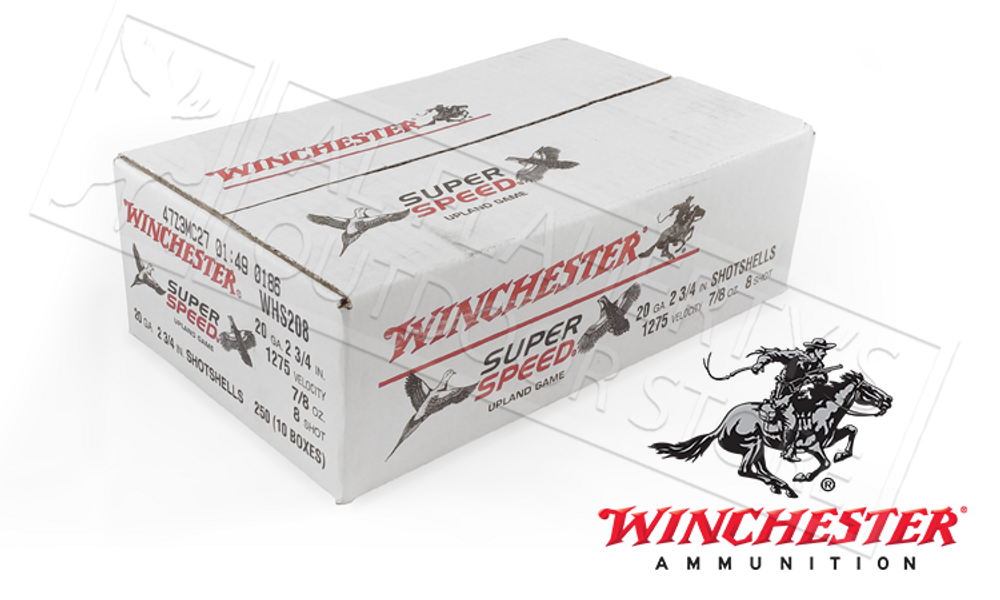 "(STORE PICKUP ONLY) 20 GAUGE - WINCHESTER SUPER SPEED GAME LOADS, 2-3/4"" 8 SHOT 7/8 OZ. CASE OF 250"