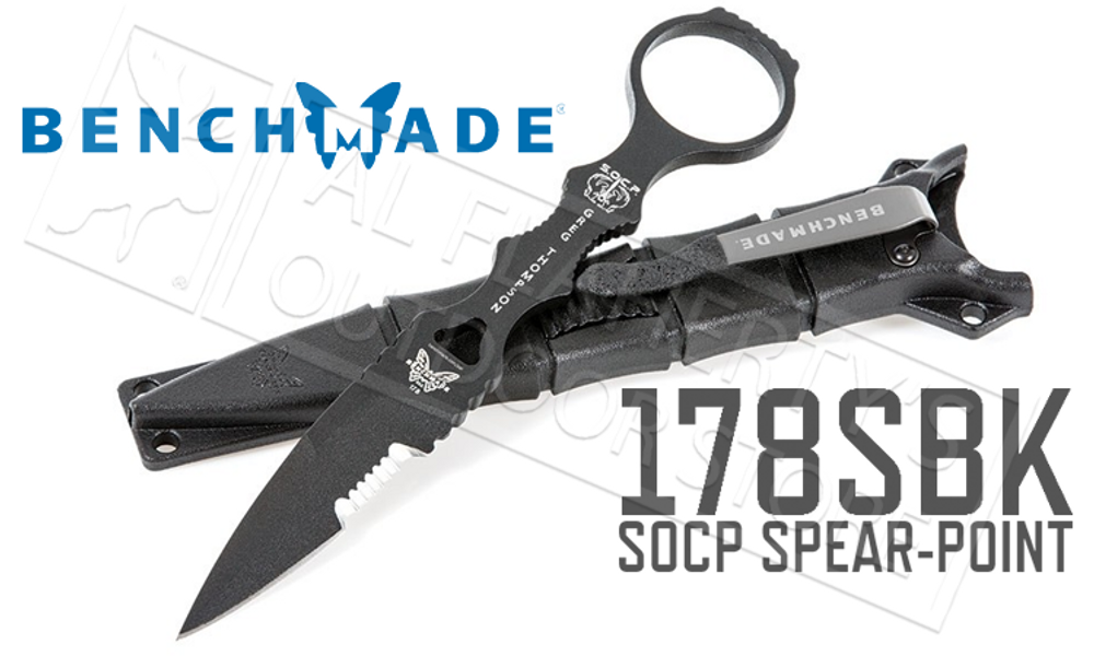 BENCHMADE 178 SOCP SPEAR-POINT KNIFE #178SBK