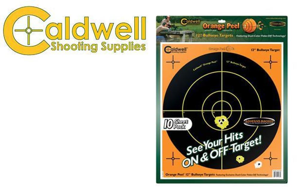 """CALDWELL ORANGE PEEL BULLSEYE 12"""" TARGET PACK OF 10 #121066"""