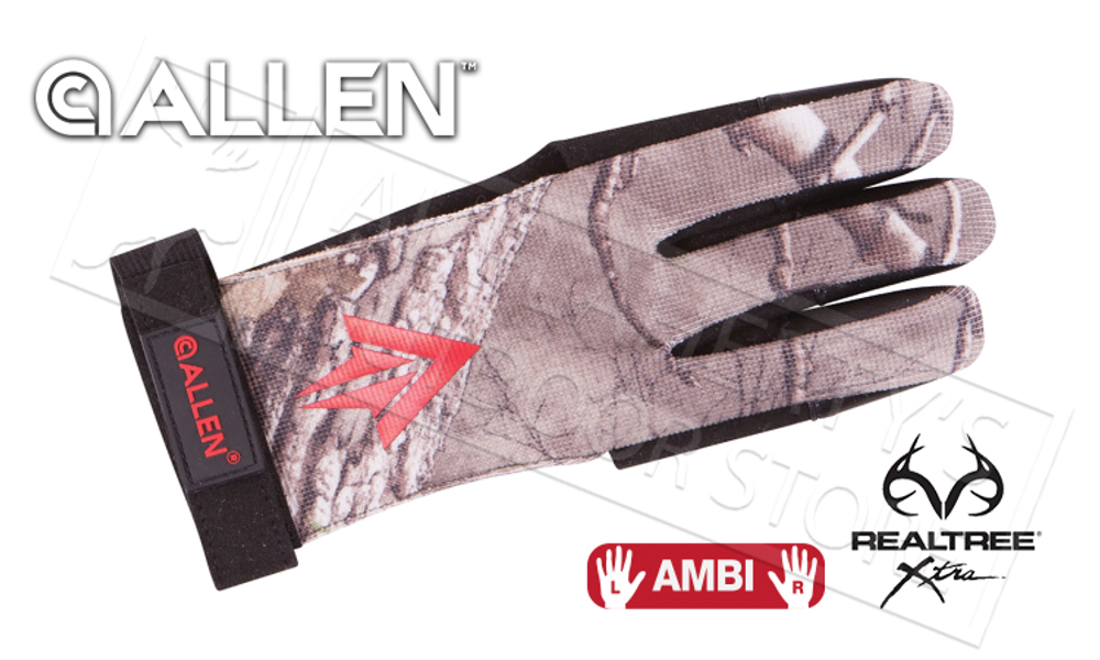 Allen Ambi Traditional Archery Glove in Realtree Xtra #6053