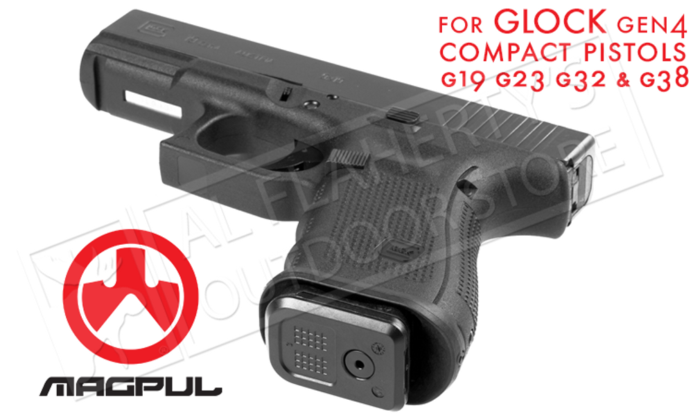 MAGPUL GL ENHANCED MAGAZINE WELL - FOR GLOCK GEN4 COMPACT PISTOLS IN 9MM AND 40SW #MAG950