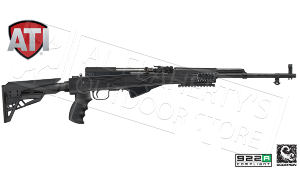 ATI SKS Strikeforce Stock with Scorpion Recoil System - Black or FDE #B.2.xx.1232