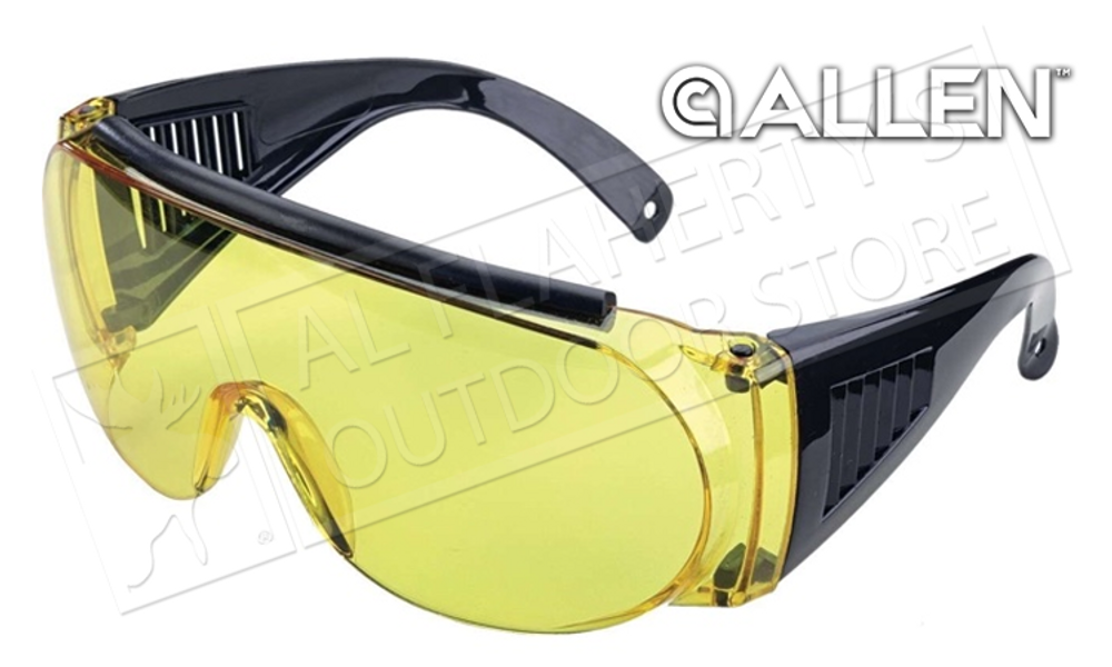 Allen Over Shooting & Safety Glasses, Yellow #2170