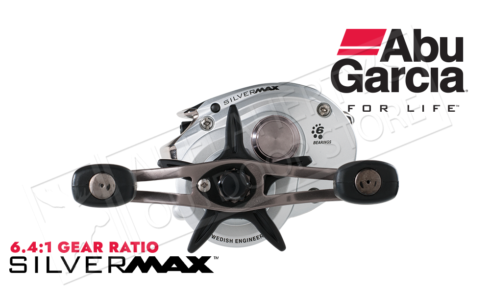 Abu Garcia Silver Max Low Profile Baitcaster - Left and Right Hand Models #SMAX3