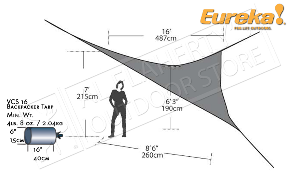 EUREKA VCS 16 BACKPACKER'S TARP #2699752