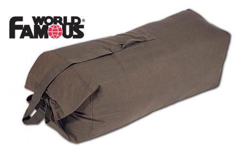 """WORLD FAMOUS GIANT COTTON-CANVAS DUFFLE BAG, 50"""" #178"""
