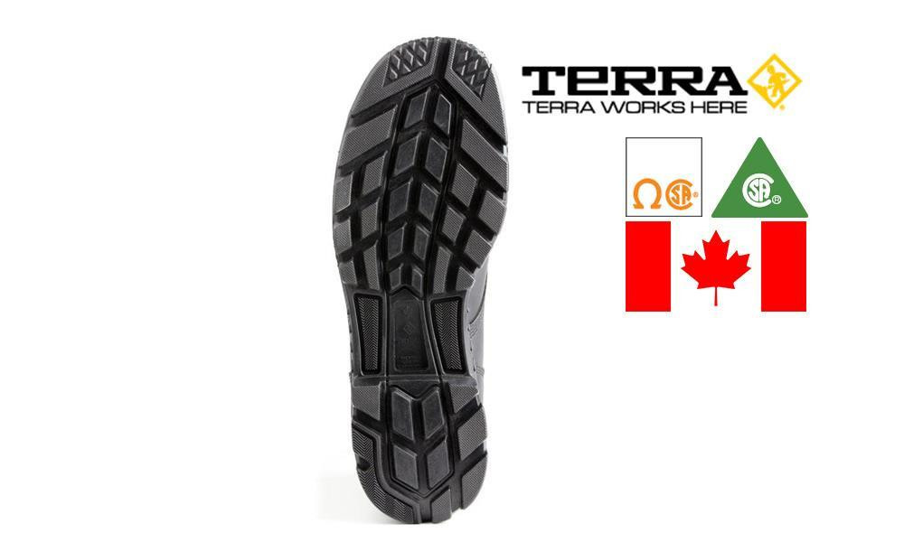 """TERRA ARGO 8"""" SAFETY BOOT, METAL FREE, MADE IN CANADA #2974B"""