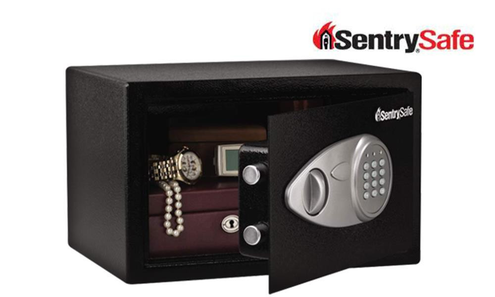 SENTRY SAFE MEDIUM KEY LOCK & ELECTRONIC SECURITY SAFE