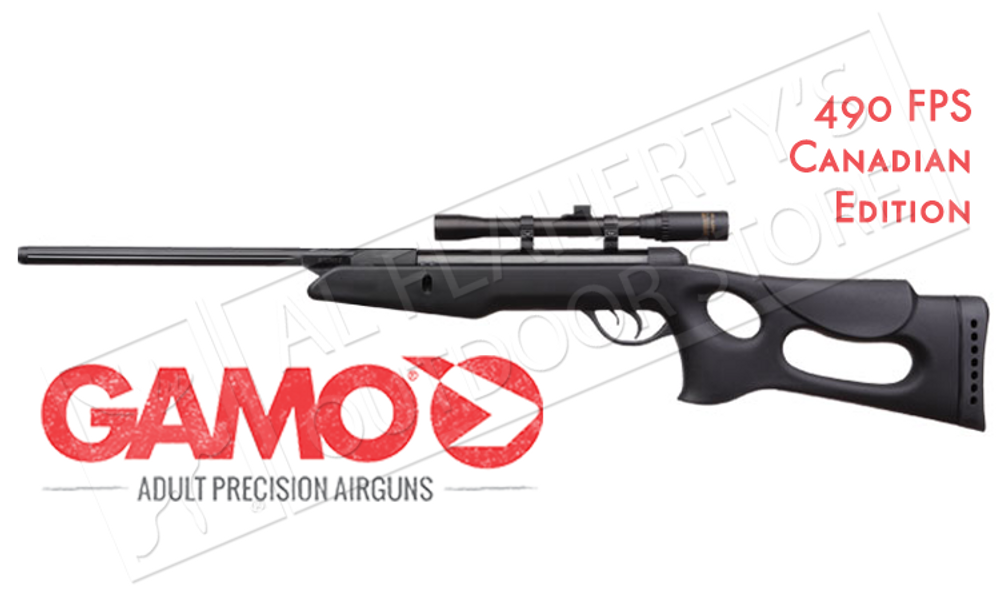 GAMO RECON AIR RIFLE WITH 4X20MM SCOPE, .177 CALIBER PELLET 490FPS