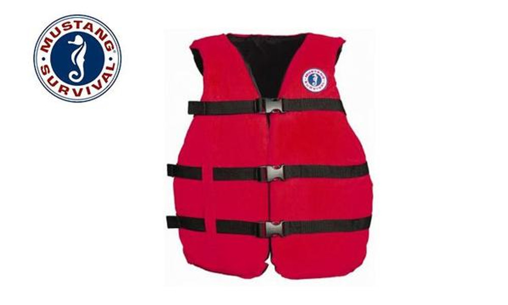 "Mustang Survival Universal Fit PFD, Adjustable to 52"" Chest"
