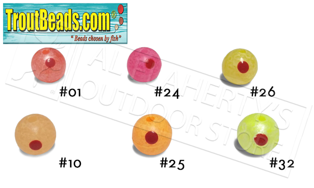 TroutBeads.com Trout Beads BloodDotEggs, 8mm Packs of 15, Various Patterns #BD08