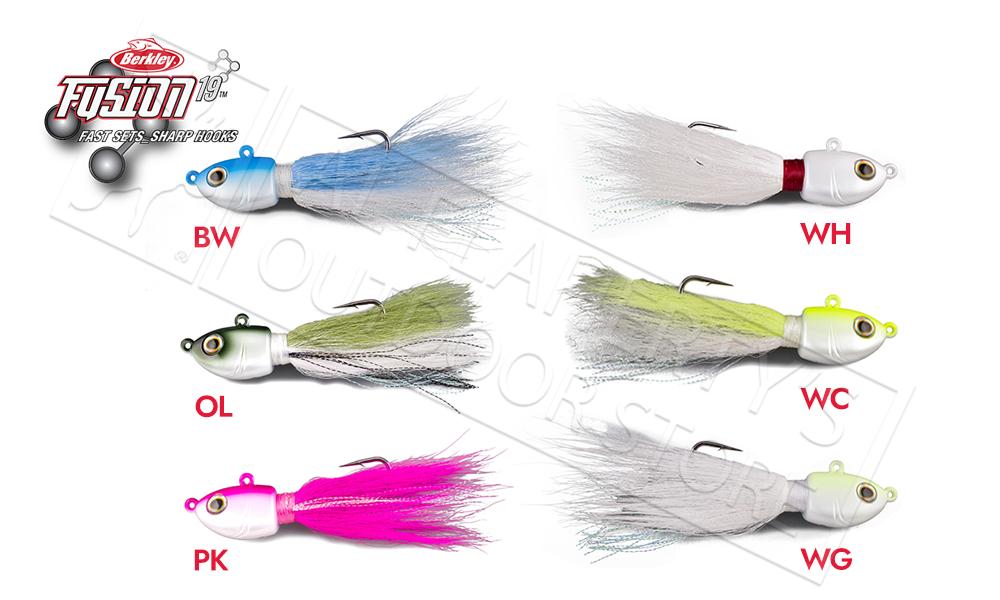 Berkley Fusion19 Bucktail Jigs 1/2 oz #FSN19BUCK1/2