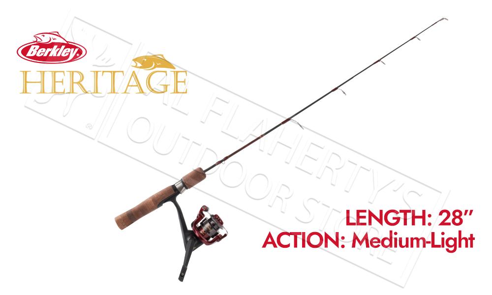 "Berkley Heritage Ice Fishing Combo, 28"" Medium-Light Action #BHICE28MLCBO"