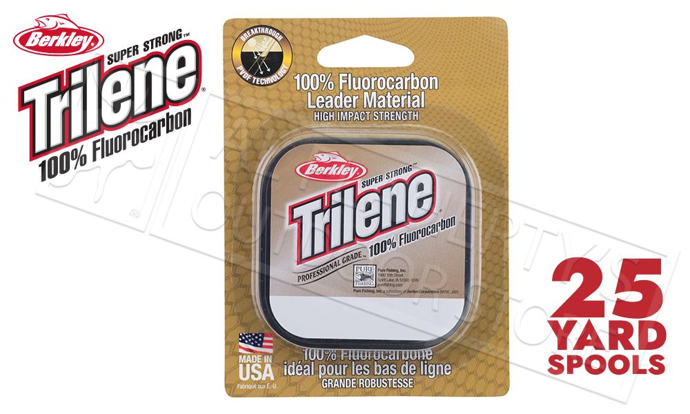 Berkley Trilene 100% Fluoro Leader Material, Clear, 25 Yards, 4 to 8 lb. Test #TFLMxx15