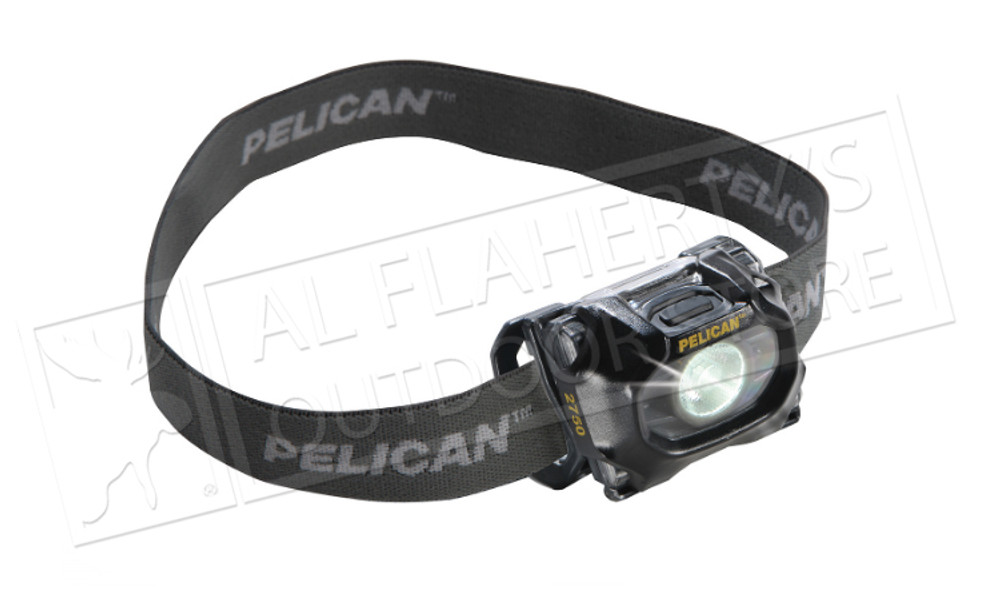 Pelican 2750C GEN2 LED Headlight, 63 to 193 Lumens with Red LED