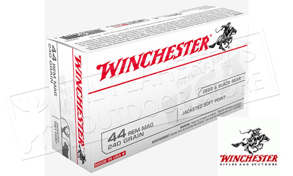 Winchester 44 Rem Mag White Box, JHP 240 Grain Box of 50 #Q4240