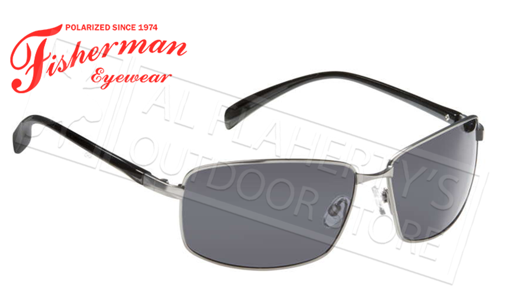 Fisherman Eyewear Harbor Polarized Glasses, Matte Gunmetal Frame with Gray Lens #50262301