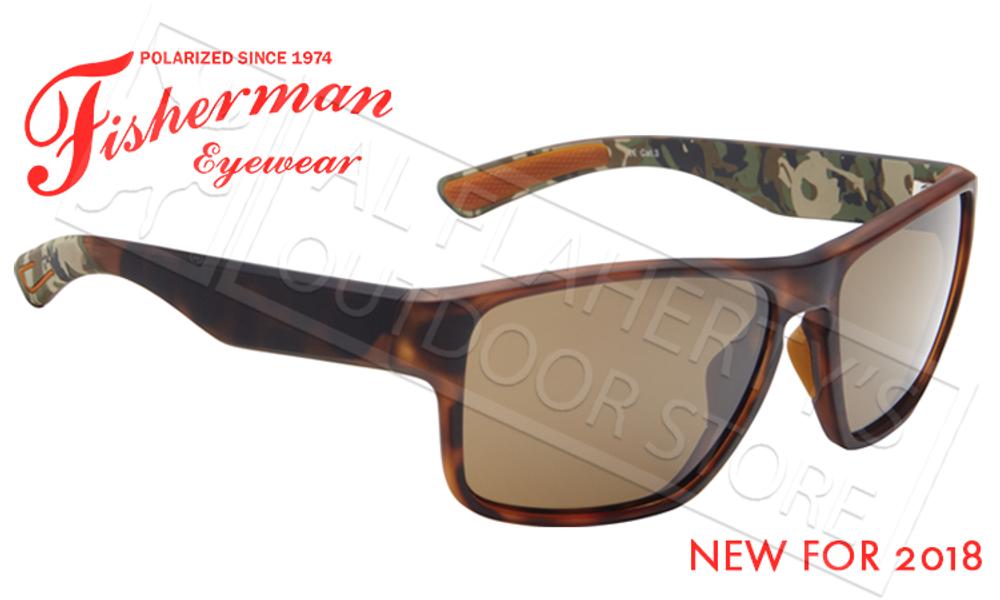 Fisherman Eyewear Maverick Polarized Glasses, Tortoise Frame with Brown Lens #50633202