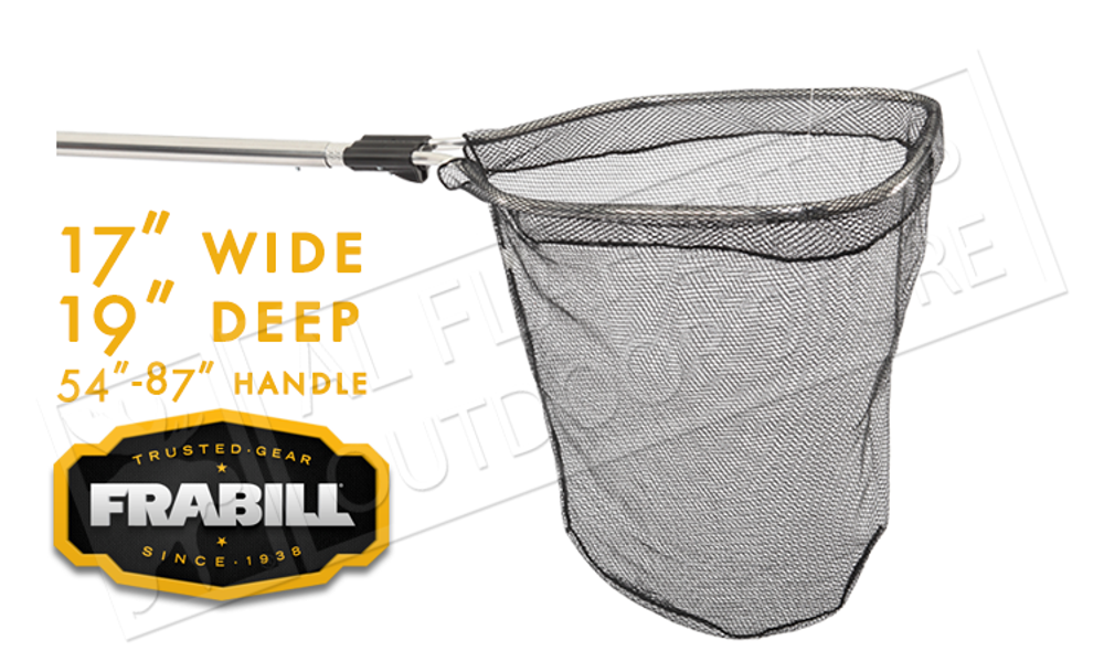 """Frabill Smelt and Shad Net, 17"""" x19"""" Deep with Telescoping Handle #3549"""