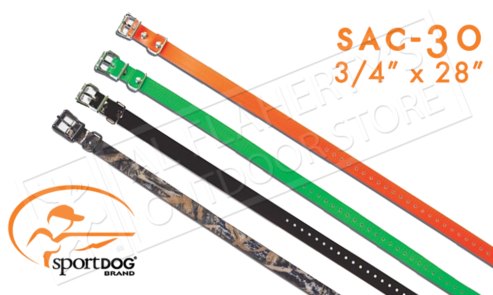 "SportDOG Replacement 3/4"" Collar Straps, Adjustable for Necks #SAC-30"
