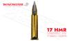Winchester 17HMR Varmint HV, Polymer Tip V-Max 17 Grain Box of 50 #S17HMR1