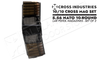 Cross Industries 5.56 NATO 10/10 Cross Mag Coupling AR-Pistol 10-Round Magazine Set - Smoke Black #CM10AR15P55645