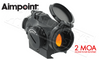 Aimpoint Micro T-2 Red Dot, 2 MOA with 50,000 Hour Runtime #200170