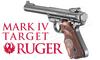 RUGER MK IV TARGET WITH WOOD LAMINATE GRIPS 22LR
