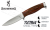 Browning Knife Bush Craft Ignite Wood Fixed Blade #3220261