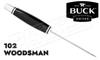 Buck Knives 102 Woodsman - Black Phenolic #0102BKS-B