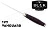 Buck Knives 192 Vanguard Hunting Knife with Heritage Walnut Dymondwood #0192BRS-B