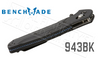 BENCHMADE 943 BY OSBORNE DESIGN, PLAIN EDGE, BLACK BLADE & ALUMINUM HANDLES #943BK
