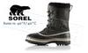SOREL CARIBOU BOOT - BLACK, TUSK - MEN'S #NM1000014