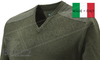 Beretta Classic V-Neck Sweater in Green, Sizes M-2XL #PU451T1194