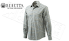 Beretta Elm Classic Shirt in White Check, Sizes 41-44 Italian #LU541T1242019B