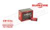 SureFire CR123A Lithium Batteries, Pack of 12 #SF12-BB