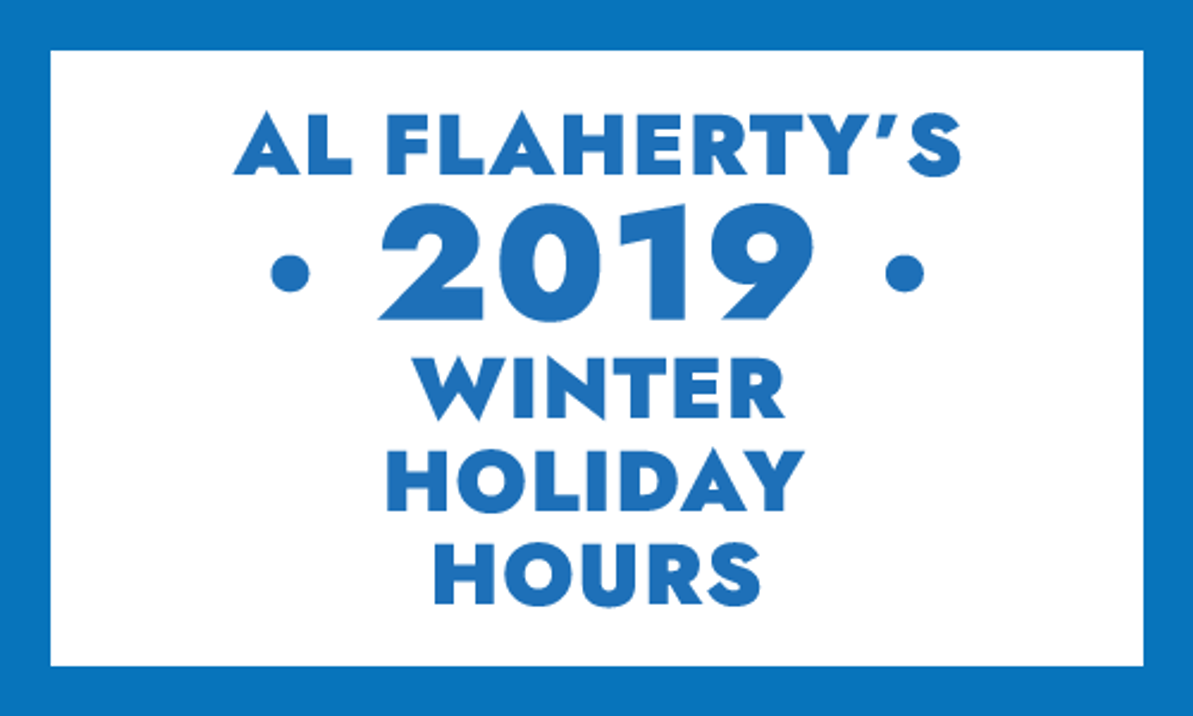 Al's 2019 Christmas Holiday and Boxing Day Hours