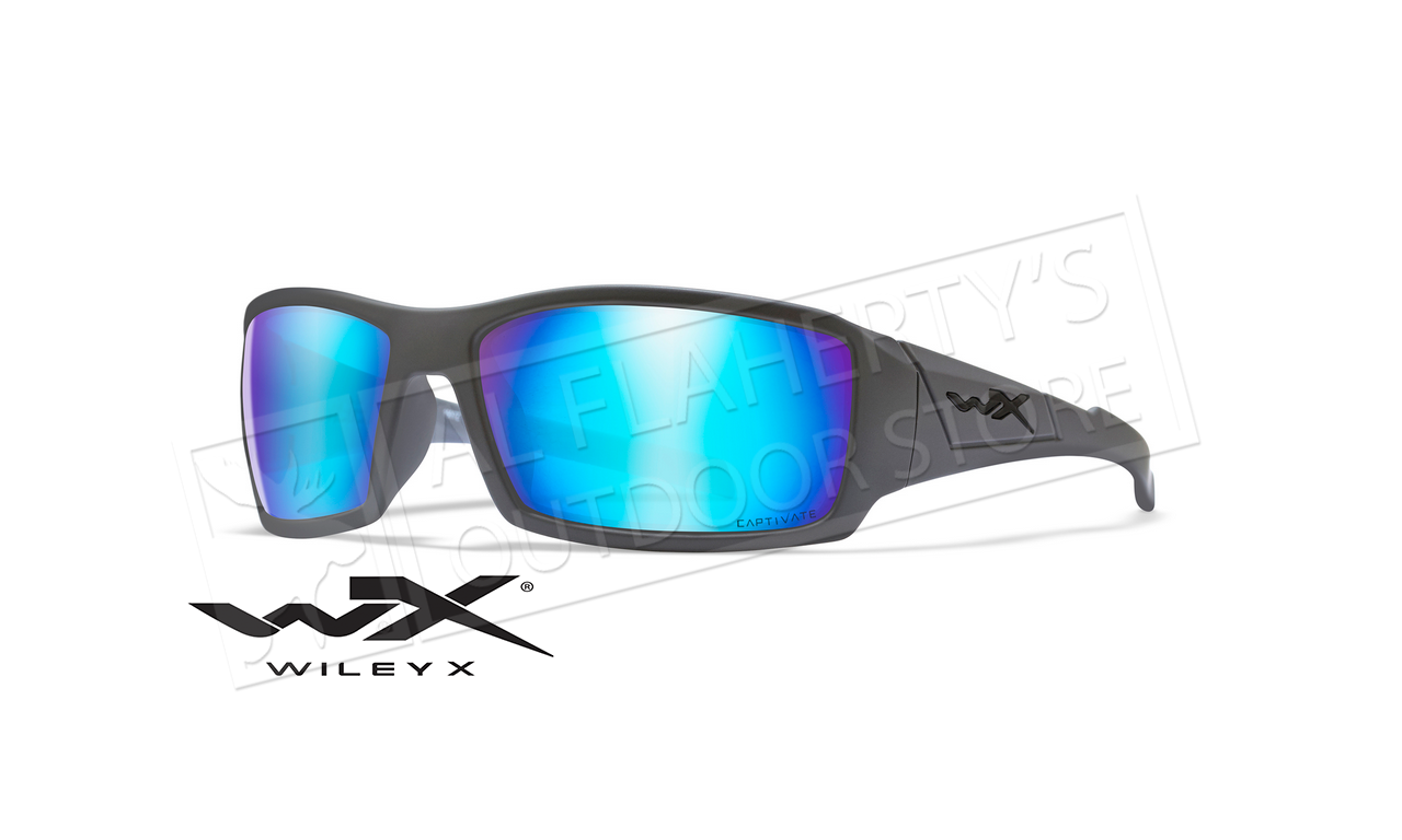 Wiley X Twisted Black Ops Polarized Sunglasses Matte Black F Smoke Grey Lens