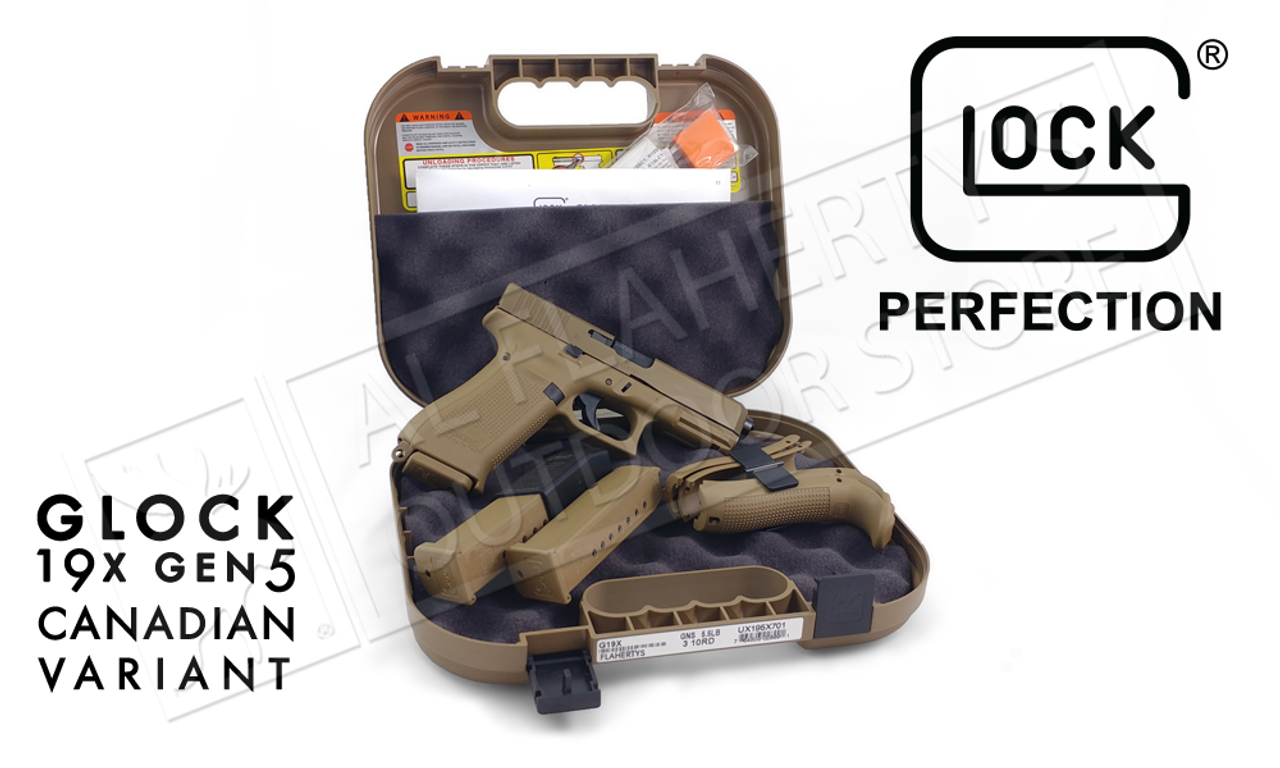 Glock 19X Gen5 Canadian Edition 9mm Pistol