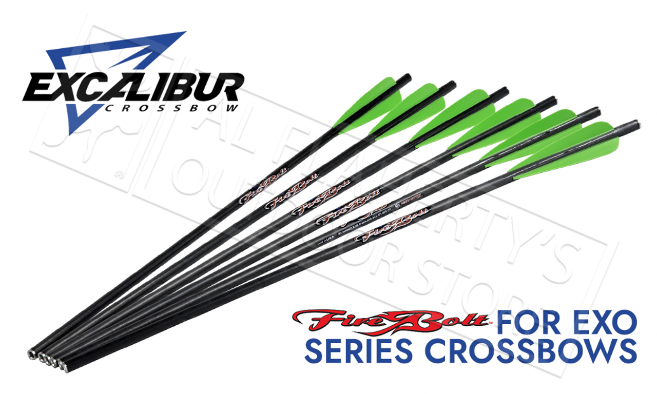 "6 Pack Arrows Excalibur Firebolt 20/"" w//Vanes w//Inserts"
