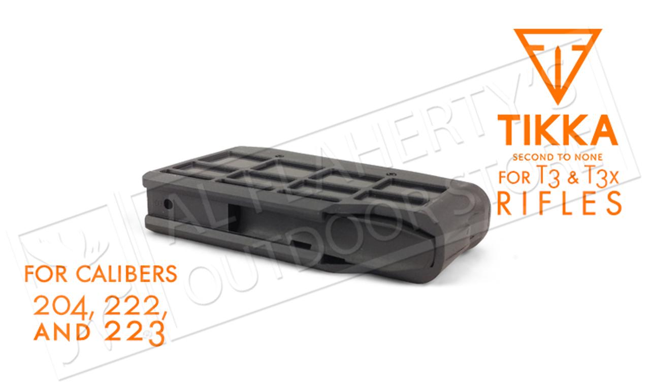 Tikka Magazine T3 and T3x, 4-Round, Calibers  204,  222,  223 #S5850370