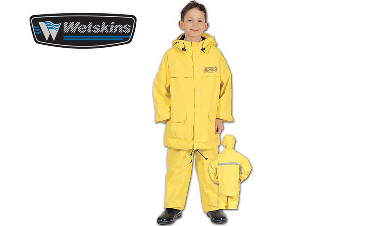 half price price reduced crazy price WFS Wetskins Rain Suit - Boys Yellow, S-L #8914
