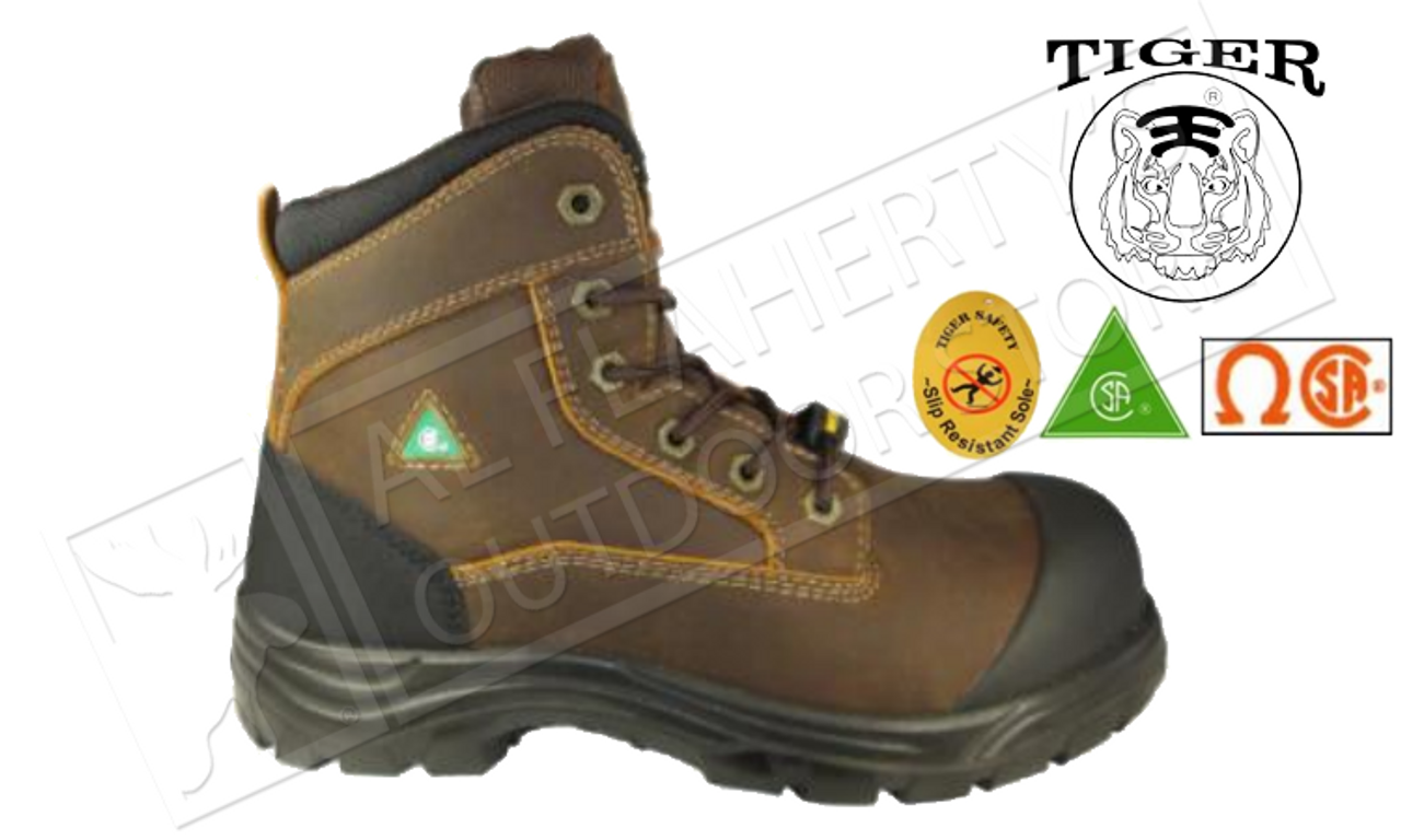 sneakers for cheap 0675a b0852 Tiger Safety Titanium Ultra-Light and Waterproof Workboot, Brown #7666-C