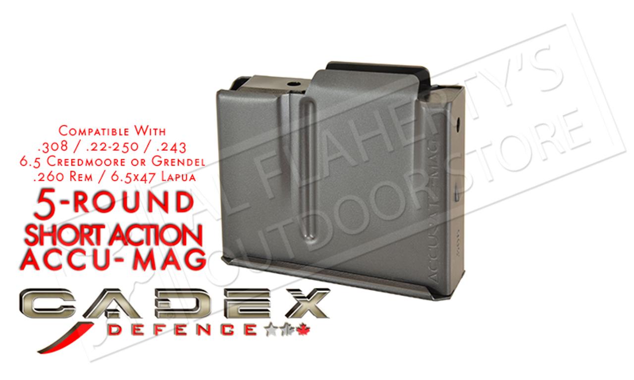 Cadex Defence Short Action AICS Accu-Mag Magazine,  308 5-Round #MAG100-0041