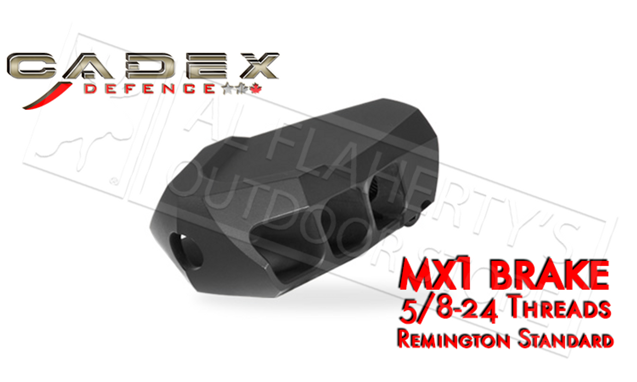 Cadex Defence MX1 Muzzle Brake for Calibers up to 338, 5/8-24