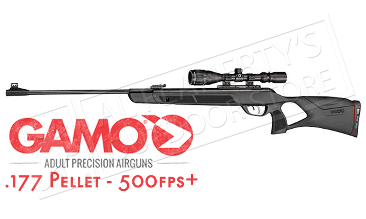 Gamo Magnum Air Rifle with Scope,  177 or  22 PELLET